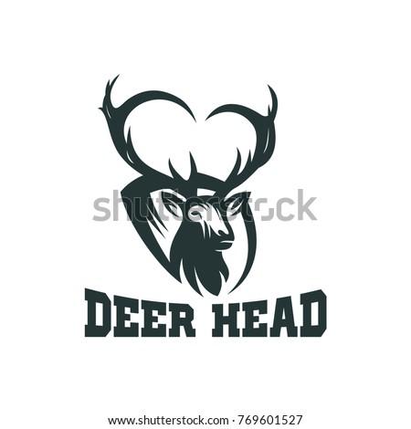 Deer Vector Deer Head Vector Logo Stock Photo Photo Vector