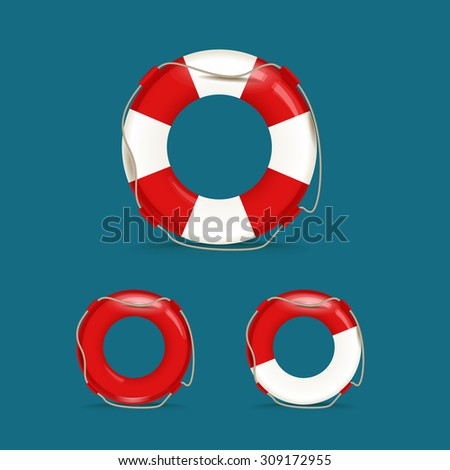 Defferent safety buoy collection - stock vector