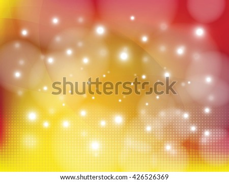Defocused background with lights. Blurred backdrop. Abstract bokeh style vector illustration. - stock vector