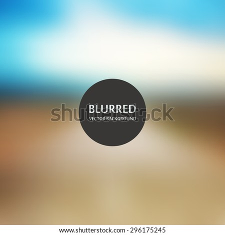 Defocused image, blur of fresh green spring summer landscape with sun shining - stock vector