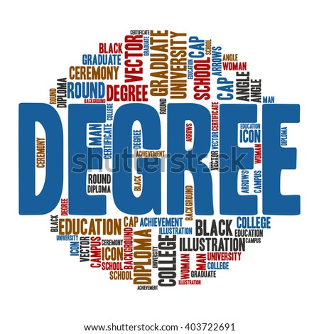 Degree ,Word cloud art  background
