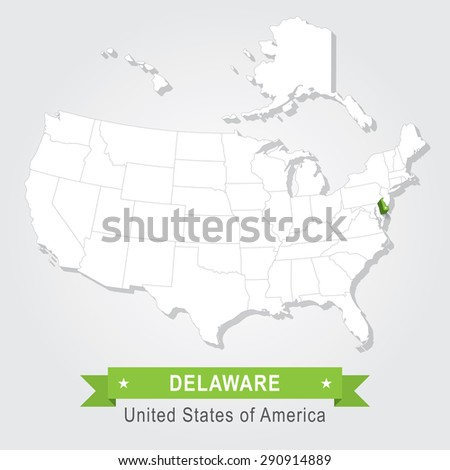 Ri State Usa Administrative Map Stock Vector Shutterstock - Us map delaware state