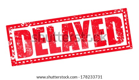 delayed label stamp  - stock vector
