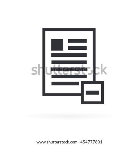 Delete Document File Icon - stock vector