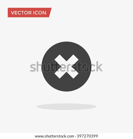 Delete Icon in trendy flat style isolated on grey background. Vector illustration, EPS10. - stock vector