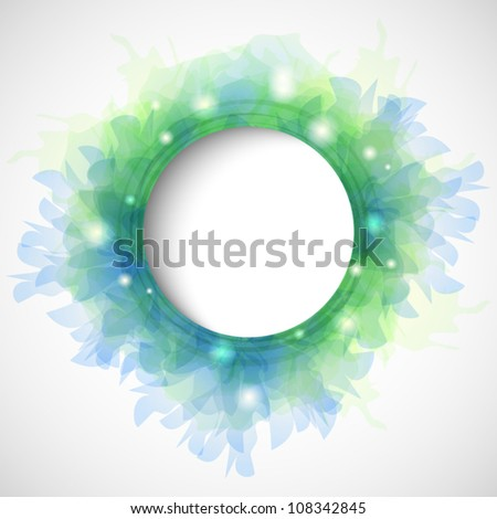 Delicate abstract background with copy space - stock vector