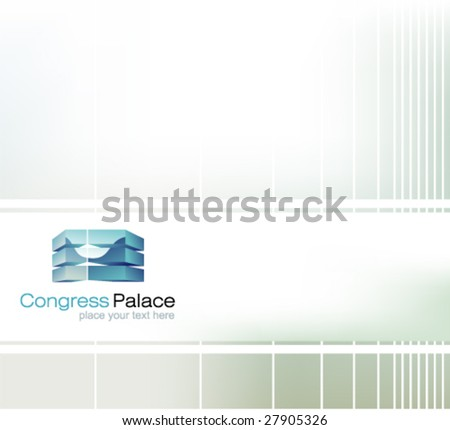 Delicate Abstract Corporate background with gradient mesh. - stock vector