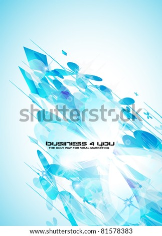 Delicate blue abstract background for stylish business flyer or corporate promotional posters. - stock vector