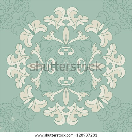 delicate floral pattern seamless vector background - stock vector
