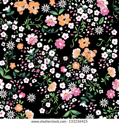 delicate floral seamless background - stock vector