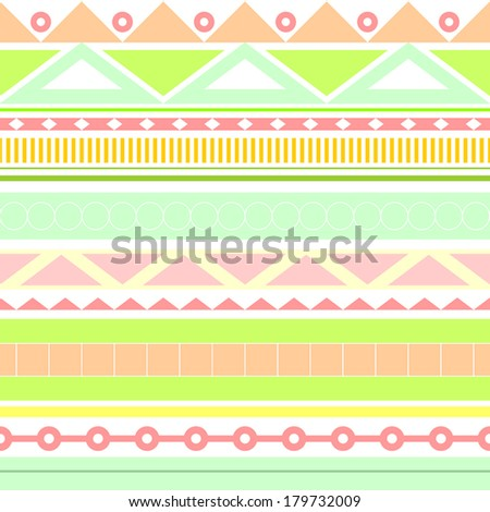 Delicate geometric seamless pattern
