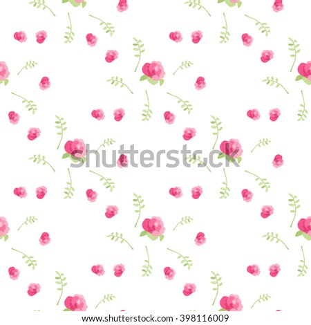 Delicate pattern with flowers Light background with blooming daisies. Background for postcards, invitations, children's items. Suitable for fabric and paper. - stock vector