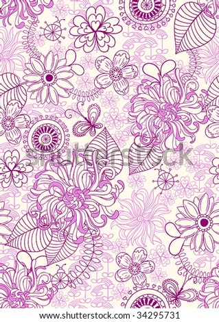 delicate seamless floral background pattern. Vector illustration.