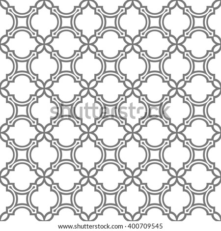 Delicate seamless pattern in oriental style. Vector background