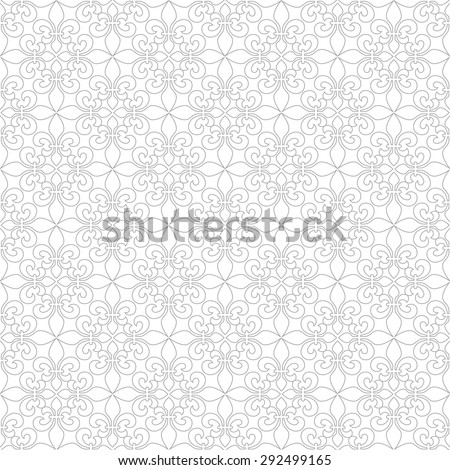 Delicate seamless pattern with French Lilies. Vector background - stock vector