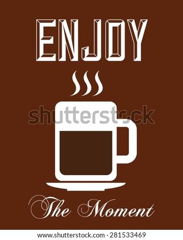 delicious coffee design, vector illustration eps10 graphic  - stock vector
