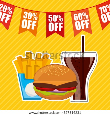 delicious food design, vector illustration eps10 graphic  - stock vector