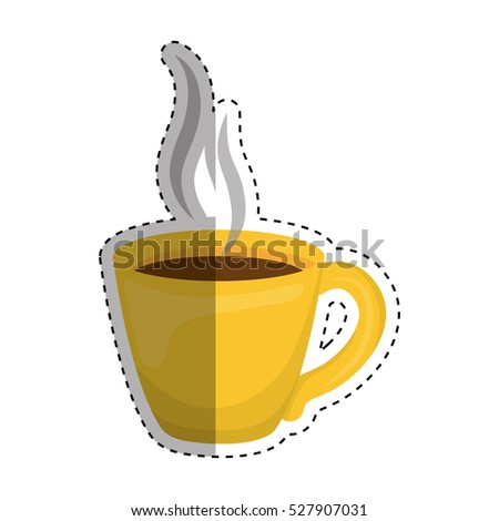 Delicious fresh coffee icon vector illustration graphic design