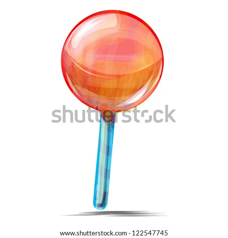 Delicious lolly pop isolated on white background sketch vector illustration - stock vector