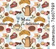 Delicious pattern - stock vector