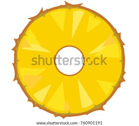 Delicious Pineapple Slice Piece Stock Vector 760901191 ...