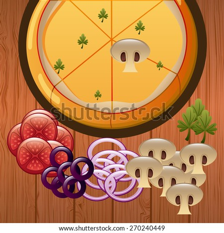 delicious pizza design, vector illustration eps10 graphic