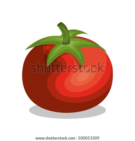 delicious vegetable tomato isolated icon