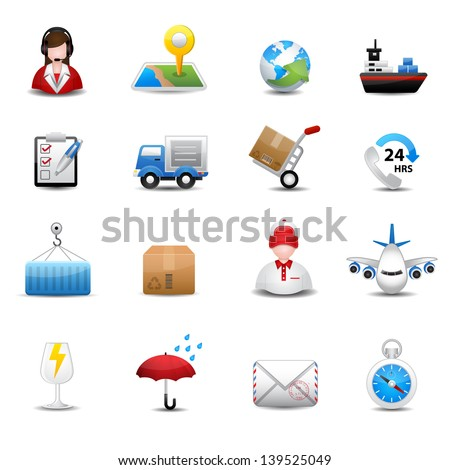 Delivery and Logistic Shipping icons - stock vector