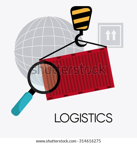 Delivery and logistics business operations, vector illustration eps 10