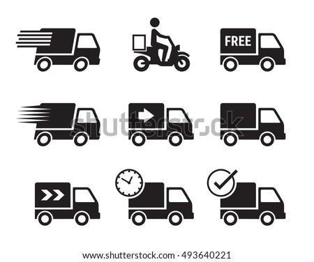 Delivery Trucks On White Background Stock Illustration 582727918 - Shutterstock  Delivery Trucks...