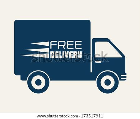 delivery design over beige background vector illustration - stock vector