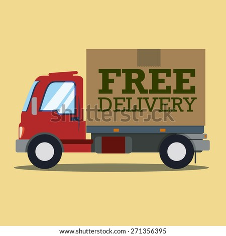 Delivery design over beige background, vector illustration.