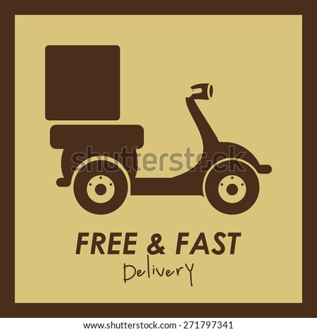 Delivery  design over brown background, vector illustration - stock vector