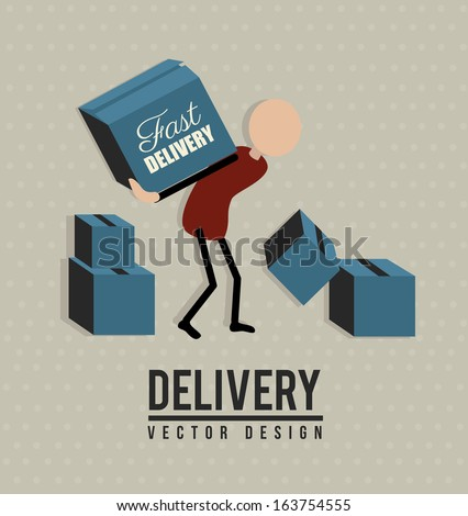 delivery design over dotted background vector illustration  - stock vector