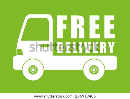 Delivery design over green background, vector illustration.