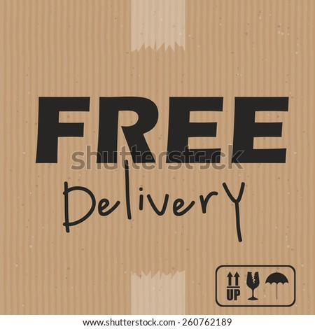 Delivery design, vector illustration - stock vector