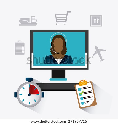 Delivery digital design, vector illustration eps 10. - stock vector