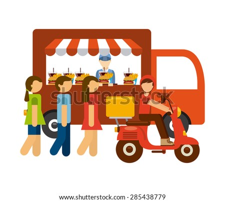 delivery food design, vector illustration eps10 graphic  - stock vector