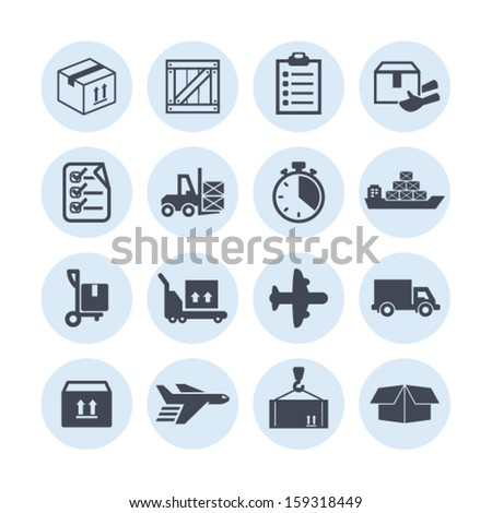 Delivery icons for site - stock vector
