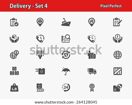 Delivery Icons. Professional, pixel perfect icons optimized for both large and small resolutions. EPS 8 format. - stock vector