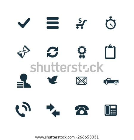 delivery icons set on white background - stock vector