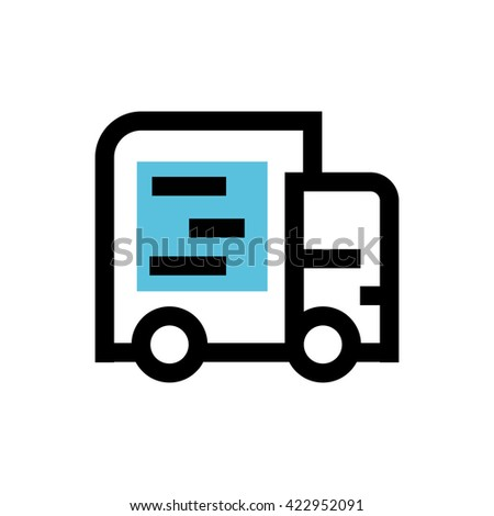 Delivery line icon. Pixel perfect fully editable vector icon suitable for websites, info graphics and print media. - stock vector