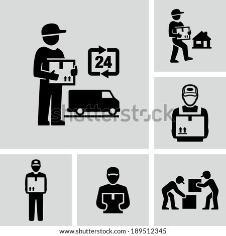 Delivery man - stock vector