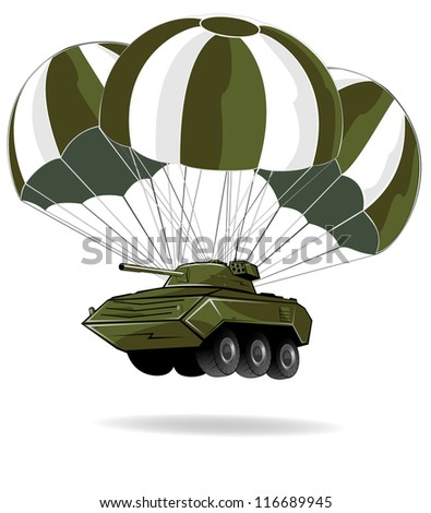 delivery of military vehicle - stock vector