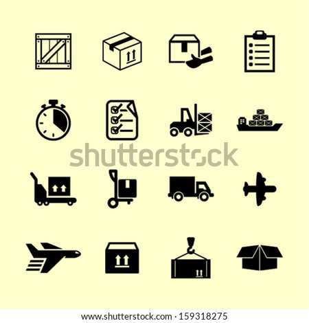 Delivery pictogram - stock vector