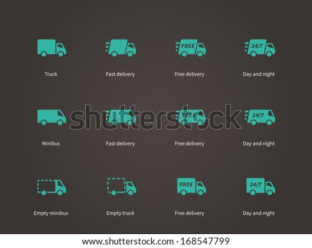 Delivery Service icons. Vector illustration. - stock vector