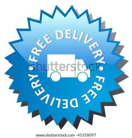 delivery sign - vector sticker - stock vector
