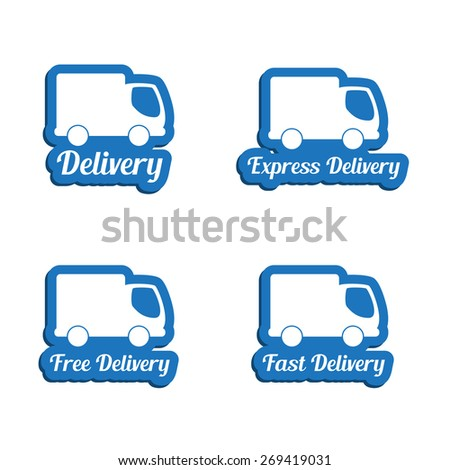 Delivery symbols set - stock vector