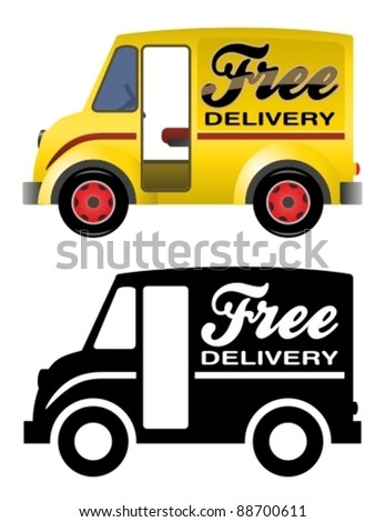 Delivery truck. - stock vector