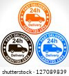 Delivery Truck, Delivery Service Icons - Fast 0-24 Delivery With Van - stock photo
